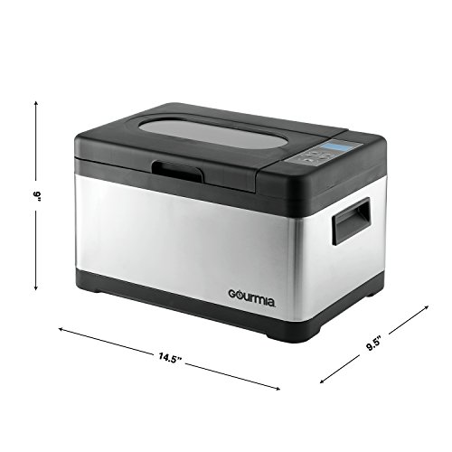 Gourmia GSV900 Sous Vide Self Contained Circulating Water Oven with Rack - Stainless Steel - 10 Quart- Includes Free Recipe Book - 110V by Gourmia (Image #6)