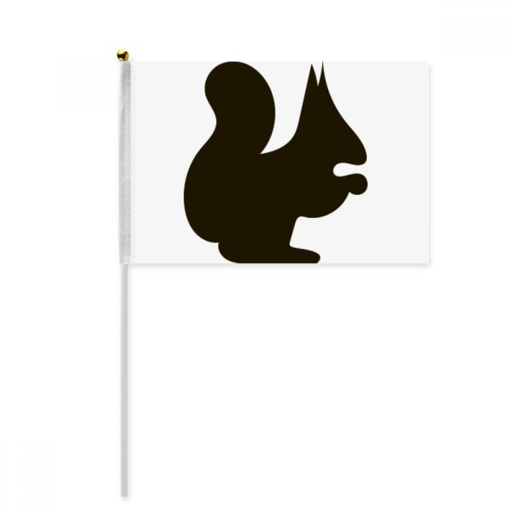 Black Squirrel Animal Portrayal Hand Waving Flag 8x5 inch Polyester Sport Event Procession Parade 4pcs