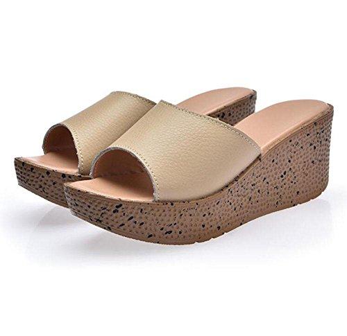 à fin avec KUKI 3 sandales une sandale de grande taille la épaisses féminine Pente 0zt1qz6