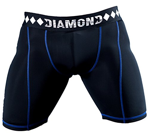 Compression Shorts with Built-in Jock Strap Supporter with Athletic Cup Pocket for Sports, Medium
