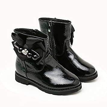 kekafu Las niñas Zapatos Charol Moda otoño Invierno Pelusas Forro Botas/ Botines Botas Bota Botines
