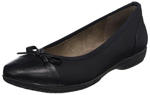 Black 22168 Mujer Bailarinas Negro para Softline vpdXxqX