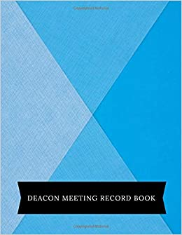deacon meeting record book meeting minutes notebook secretary