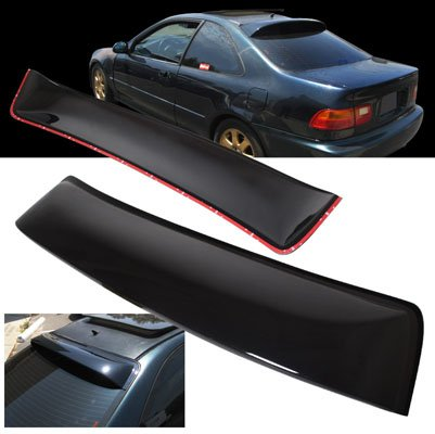 Coupe Rear Window Spoiler - 1992-1995 Honda Civic 2DR Coupe ABS Rear Roof Window Visor Spoiler