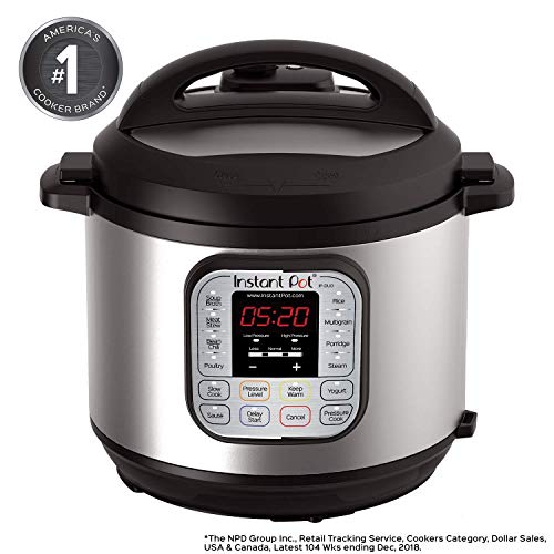 Instant Pot DUO60 6 Qt 7-in-1 Multi-Use Programmable Pressure Cooker, Slow Cooker, Rice Cooker, Steamer, Sauté, Yogurt Maker and Warmer (Renewed) (Instant Pot Duo60 6 Qt 7 In 1)