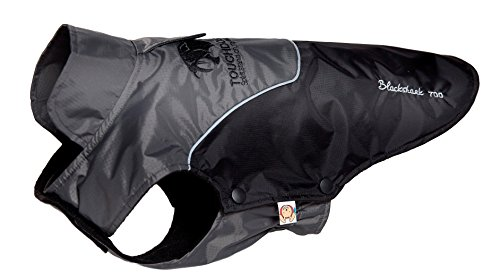 TOUCHDOG 'Subzero-Storm' Waterproof 3M Reflective Pet Dog Coat Jacket with Heavy-Duty Velcro w/ Blackshark Technology, Large, Black, Grey Waterproof Storm Dog Jackets