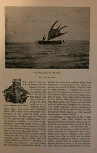 1895 Papua New Guinea Port Moresby Koiari Tribe Kerepuna Laroki River