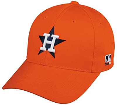 HOUSTON ASTROS RETRO CAP (ADULT) Cooperstown Throwback Official MLB Adjustable Velcro Baseball Replica Hat by OC Sports