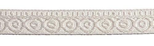 Jacquard Ribbon Trim White (SIC Luxury Jacquard Ribbon SIC-247 00)