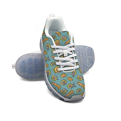 Faaerd Cats Kawaii Food Tex-mex Taco Gattino Mens Moda Leggero Mesh Cuscino Daria Sneakers Scarpe Da Tennis
