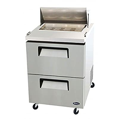 Atosa USA MSF8309 Stainless Steel Sandwich/Salad Prep Table 27-Inch Drawers Refrigerator