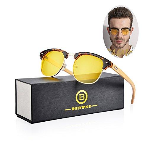 (Night Vision Glasses For Driving Anti Glare Polarized HD Eyewear(Leopard))