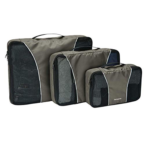 (Samsonite 3 Piece Packing Cube Set Travel Tote, Charcoal, One Size)