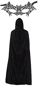 Mujer Encaje Batman Batwoman Máscara & Capa Disfraz Juego: Amazon ...