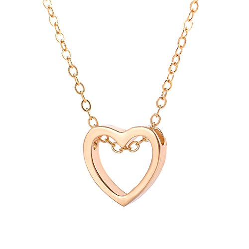 Softmusic Romantic Loving Heart Pattern Pendant Hollow Necklace Women Lovers Jewelry Gift