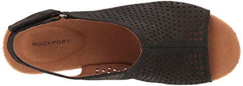 Rockport Women's Briah Perf Sling Wedge Sandal Black Nubuck 100% original sale online outlet store locations extremely cheap sale view LMDjpA3HY7