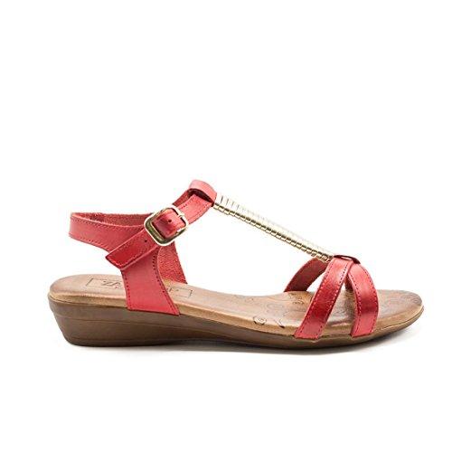 de19fd74 En venta ZAPSHOP C27206 Sandalias egipcias Hergonómicas 100% Piel con Mini  Cuña para Mujer de