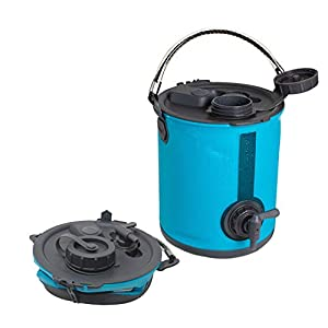 Colapz 2-in-1 Collapsible Water Container – Camping Water Carrier – Campervan bucket – Water Dispenser with Tap – Blue