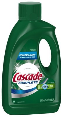Cascade Complete Gel Dishwasher Detergent-Fresh Scent-75 oz.