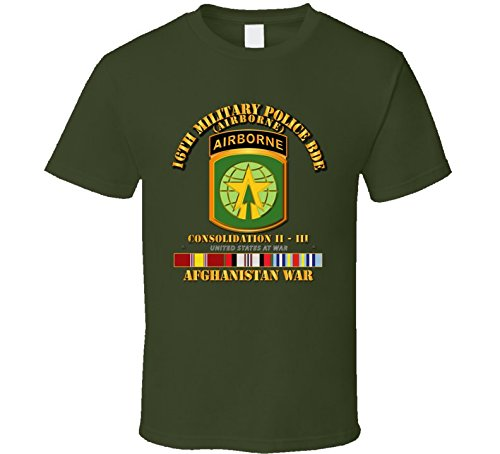3XLARGE - Army - 16th Mp Bde - Afghanistan War W Svc T-shirt - Military Green ()