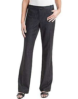 Calvin Klein Womens Petites Modern Fit Heathered Pants