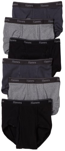 Hanes Men's Classics Full-Cut Brief, Assorted, Medium (Pack of 6) (Hanes Classics Cotton Briefs)