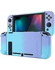 eXtremeRate PlayVital bakre skydd för Nintendo Switch-konsol, NS Joycon handhållen kontroll med isärtagbart skydd, hårt skal, anpassat dockningsbart skyddsfodral för Nintendo Switch som är mjukt vid beröring