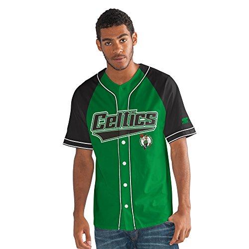 (Starter Adult Men The Player Baseball Jersey, Green, Large)