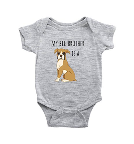 My Big Brother is A Boxer Dog Baby Bodysuit Dog Lover Baby Clothes, Infant Baby Boy, Baby Girl Bodysuit, Newborn (6 Months)