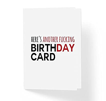 Amazon com : Funny Offensive Adult B-Day Card - Here's