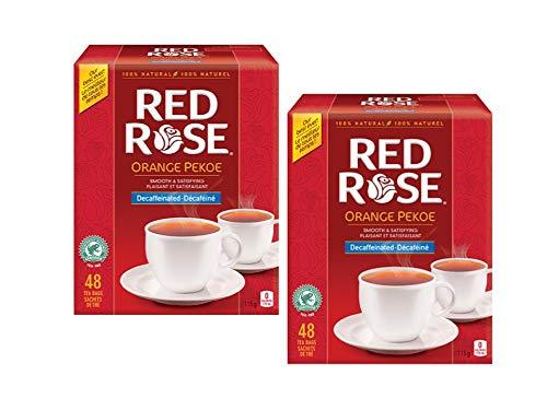 Red Rose Orange Pekoe Decaffeinated Tea Bags - 48 Tea Bags - 2 Packs - (96 Tea Bags Total)