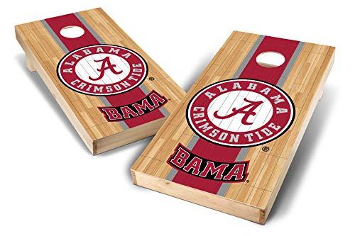 - PROLINE NCAA College 2' x 4' Alabama Crimson Tide Cornhole Board Set - Court