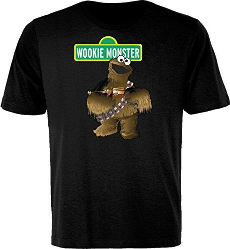 BSW Men's Wookie Monster Cookie Star Wars Theme Shirt 5XL Black
