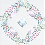 Stamped White Quilt Blocks 18x18 6/Pkg-Patchwork Wedding Rings