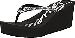 GUESS Women's Sechi Navy Sandal