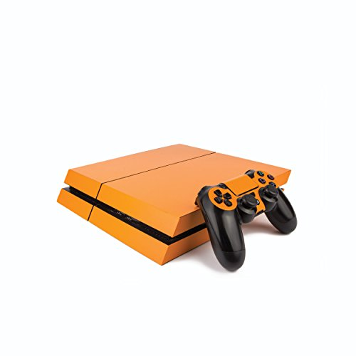 Premium PS4 PlayStation 4 Colourful Vinyl Wrap/Skin/Cover for PS4 Console and PS4 Controllers: Matte Orange