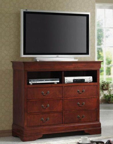 coaster-tv-dresser-stand-louis-philippe-style-in-cherry-finish