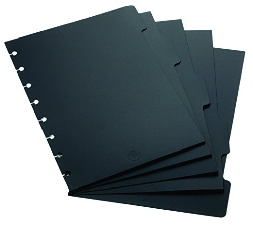 staples-arc-notebook-tab-dividers-junior-sized-black-5-5-6-x-8-1-2-set-of-5