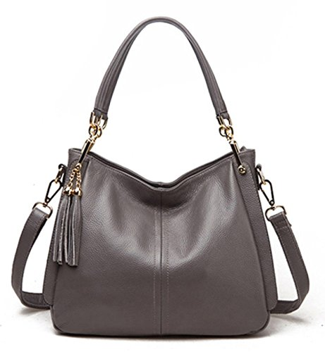 Shoulder Bag Tassel Woman Bag Fashion New Single Gray