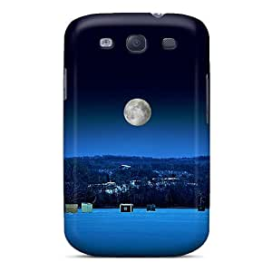 Tpu Case Cover Compatible For Galaxy S3/ Hot Case/ Ice Fishing At Night