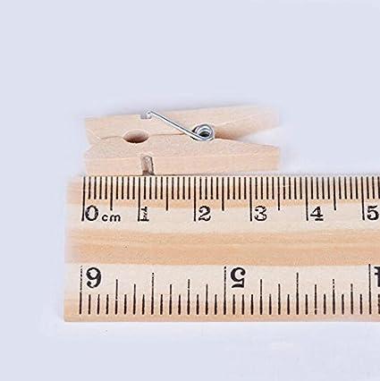 Kanggest - 50 mini mollette in legno, piccole, decorative, naturali, per fotografie, vestiti, carta, creazioni fai da te 3.5*0.8*0.8cm 100