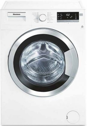 "Blomberg WM98400SX 24"" 2.5 cu. ft. Capacity Front Load Washer With Stainless Steel Drum LED Digital Display Variable Spin Speed From 600 To 1400 RPM"
