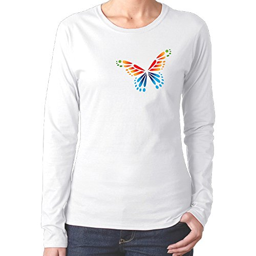 Summer Butterfly Woman Round Collar Tshirts2016 Newest