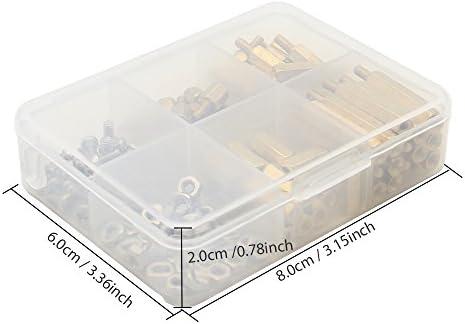 Geekworm Raspberry Pi Herramienta de instalación 124 piezas/lote M2.5 Series Separador hexagonal/Standoff + tuercas + tornillos con caja de almacenamiento Raspberry Pi 3 B+ / Zero W Kit de accesorios: Amazon.es: Informática