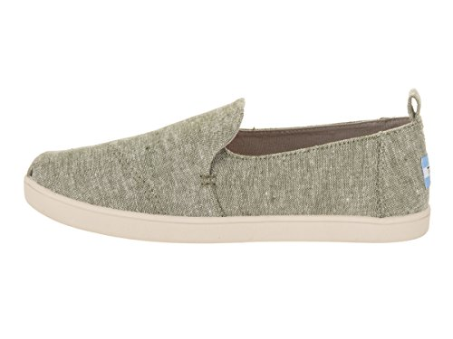 Chambray Canvas Flat High Ankle Leaf Women's Slub Deconstructed Shoe Toms Alpargata Green xqF4tYq0