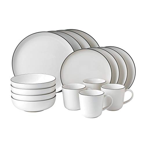 Gordon Ramsay GRBRST25796 Bread Street 16 Piece Set, White