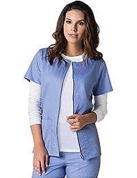 EON by Maevn Back Mesh Panel Short Sleeve Zip Front Jacket