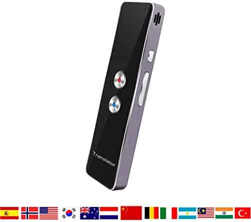 Smart Language Translator Device, Handheld Voice Simultaneous Translation English Chinese French Spanish Japanese German 34 Languages for Travel Learning Business Meeting
