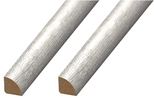 Cal-Flor MD20112 Quarter Round Floor Molding, 2 Pack, Light Gray, 2 Each