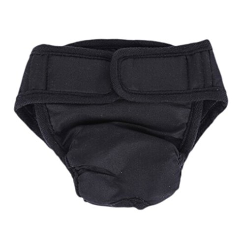 IBLUELOVER Comfortable Black Dog Diapers, Durable Dog Wraps Shorts Female, Pets Washable Cover up Panties, Doggie Diapers, Fashion Puppies Nappies, Sanitary Panty (Size S-2XL by IBLUELOVER